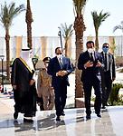 Egyptian President Abdel Fattah el-Sisi, and Prince Fahd bin Sultan bin Abdulaziz attend the opinning the King Salman University in Sharm El-Sheikh, Egypt, on Ocotber 31, 2020. Photo by Egyptian President Office
