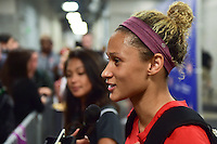 Houston, TX - Sunday Oct. 09, 2016: Lynn Williams after the National Women's Soccer League (NWSL) Championship match between the Washington Spirit and the Western New York Flash at BBVA Compass Stadium. The Western New York Flash win 3-2 on penalty kicks after playing to a 2-2 tie.