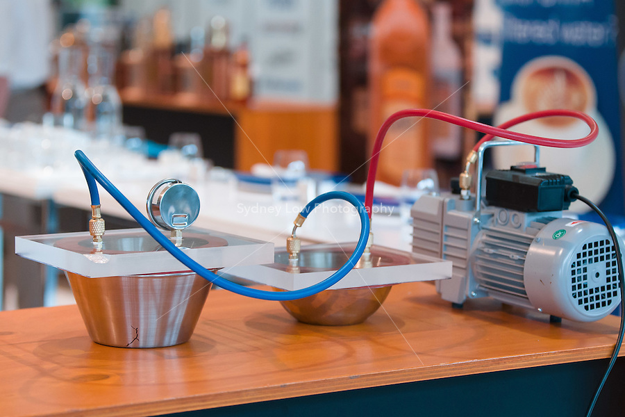 March 15, 2015: Equipment used by Matt Perger at the 2015 Australian Barista Championships at the Showgrounds, Melbourne, Australia. Photo Sydney Low.