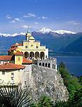 CHE, Schweiz, Tessin, Locarno am Lago Maggiore: Kirche Madonna del Sasso   CHE, Switzerland, Ticino, Locarno at Lago Maggiore: Church Madonna del Sasso