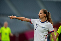 TOKYO, JAPAN - JULY 21: Tobin Heath #7 of the United States during a game between Sweden and USWNT at Tokyo Stadium on July 21, 2021 in Tokyo, Japan.