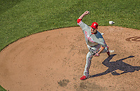 26 May 2013: Philadelphia Phillies pitcher Chad Durbin on the mound against the Washington Nationals at Nationals Park in Washington, DC. The Nationals defeated the Phillies 6-1, taking the rubber game of their 3-game weekend series. Mandatory Credit: Ed Wolfstein Photo *** RAW (NEF) Image File Available ***