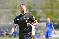 referee Florian Stove pictured during a female soccer game between AA Gent Ladies and Oud Heverlee Leuven on the fourth matchday of play off 1 in the 2020 - 2021 season of Belgian Scooore Womens Super League , saturday 1 st of May 2021  in Oostakker , Belgium . PHOTO SPORTPIX.BE | SPP | STIJN AUDOOREN