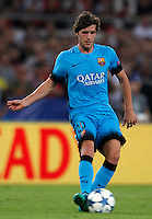 Calcio, Champions League, Gruppo E: Roma vs Barcellona. Roma, stadio Olimpico, 16 settembre 2015.<br /> FC Barcelona's Sergi Roberto during a Champions League, Group E football match between Roma and FC Barcelona, at Rome's Olympic stadium, 16 September 2015.<br /> UPDATE IMAGES PRESS/Riccardo De Luca<br /> <br /> *** ITALY AND GERMANY OUT ***