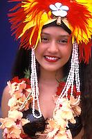Native Dancer , French Polynesia, Bora Bora, Tahiti