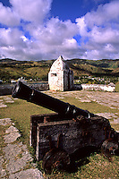 Historical military cannons at military fortress Fort Santa Agueda Hagatna in Guam US