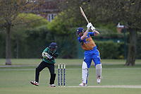 James Evans in batting action for Upminster during Upminster CC (batting) vs Ilford CC, Hamro Foundation Essex League Cricket at Upminster Park on 8th May 2021