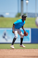 Miami Marlins shortstop Jazz Chisholm (1) during an Instructional League game against the Washington Nationals on September 26, 2019 at FITTEAM Ballpark of The Palm Beaches in Palm Beach, Florida.  (Mike Janes/Four Seam Images)