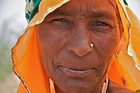 Rajasthan near Jaipur..Women workers on the Roadside