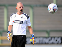Swansea City goalkeeping coach Adrian Tucker prior to the Pre-Season Friendly between Yeovil and Swansea City at Huish Park, Yeovil, England, UK. Tuesday 10 July 2018