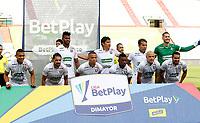 MANIZALES-COLOMBIA, 14–10-2020: Jugadores de Once Caldas, posan para una foto, antes de partido adelantado de la fecha 14 entre Once Caldas y Cucuta Deportivo, por la Liga BetPlay DIMAYOR 2020, jugado en el estadio Palogrande de la ciudad de Manizales. / Players of Once Caldas, pose for a photo, prior a match ahead of 14th date between Once Caldas and Cucuta Deportivo, for the BetPlay DIMAYOR Leguaje 2020 played at the Palogrande Stadium in Manizales city. / Photo: VizzorImage / JJ Bonilla / Cont.