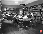 The adult reading room of the Brooklyn Library, circa 1930.