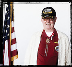Veteran George Barber poses for a photo at a Veterans Day Program at the Oxford Conference Center in Oxford, Miss. on Thursday, November 11, 2010.