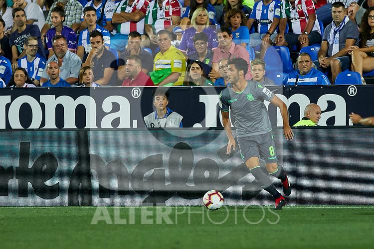 Real Sociedad's Mikel Merino during La Liga match. August 24, 2018. (ALTERPHOTOS/A. Perez Meca)