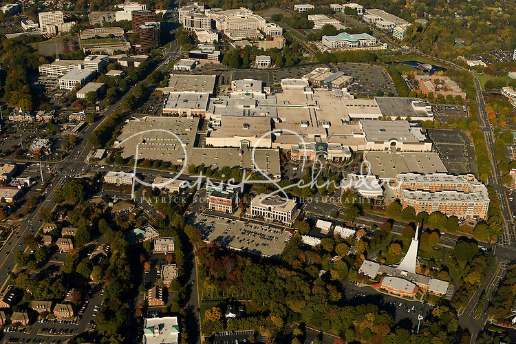 .Aerial view of Charlotte's SouthPark area, including SouthPark mall.