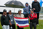 3rd June 2012 - Celtic Manor Resort - Newport - South Wales - UK :   Golf fans from Thialand at the ISPS Handa Wales Open Golf Tournament at the Celtic Manor Resort..