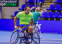 Rotterdam, Netherlands, December 15, 2017, Topsportcentrum, Ned. Loterij NK Tennis, Wheelchair doubles men, Tom Egberink (NED) (L) and Ricky Mollier (NED)<br /> Photo: Tennisimages/Henk Koster