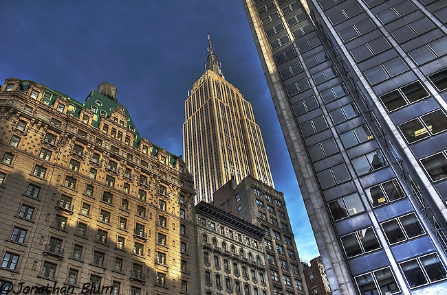 Empire State Building from Broadway/HDR