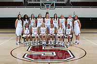 STANFORD, CA - SEPTEMBER 28:  Michelle Harrison, Nnemkadi Ogwumike, Ashley Cimino, Kayla Pedersen, Jayne Appel, Sarah Boothe, Joslyn Tinkle, Mikaela Ruef, and Jeanette Pohlen. Grace Mashore, Hannah Donaghe, JJ Hones, Rosalyn Gold-Onwude, Jeanette Pohlen, Lindy La Rocque, and Melanie Murphy of the Stanford Cardinal women's basketball team pose for a team photo on September 28, 2009 in Stanford, California.