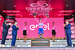Race leader Joao Almeida (POR) Deceuninck-Quick Step retains the Maglia Rosa at the end of Stage 4 of the 103rd edition of the Giro d'Italia 2020 running 140km from Catania to Villafranca Tirrena, Sicily, Italy. 6th October 2020.  <br /> Picture: LaPresse/Gian Mattia D'Alberto   Cyclefile<br /> <br /> All photos usage must carry mandatory copyright credit (© Cyclefile   LaPresse/Gian Mattia D'Alberto)