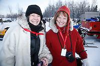 Sunday February 27, 2010   sled checkers at   Junior Iditarod at Willow Lake, Alaska