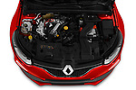 Car stock 2018 Renault Megane R.S. base 5 Door Hatchback engine high angle detail view