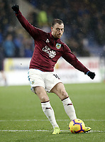 Burnley's Ashley Barnes during the pre-match warm-up <br /> <br /> Photographer Rich Linley/CameraSport<br /> <br /> The Premier League - Burnley v Brighton and Hove Albion - Saturday 8th December 2018 - Turf Moor - Burnley<br /> <br /> World Copyright © 2018 CameraSport. All rights reserved. 43 Linden Ave. Countesthorpe. Leicester. England. LE8 5PG - Tel: +44 (0) 116 277 4147 - admin@camerasport.com - www.camerasport.com