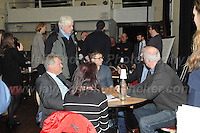 14.11.2016 - Ebbw Vale, Gwent, South wales. The Welsh Affairs Committee Brexit meeting at the Ebbw Vale Institute. Glyn Davies (L) Conservative MP for Montgomeryshire during the question & answer session.<br /> <br /> <br /> Jeff Thomas Photography -  www.jaypics.photoshelter.com - <br /> e-mail swansea1001@hotmail.co.uk -<br /> Mob: 07837 386244 -