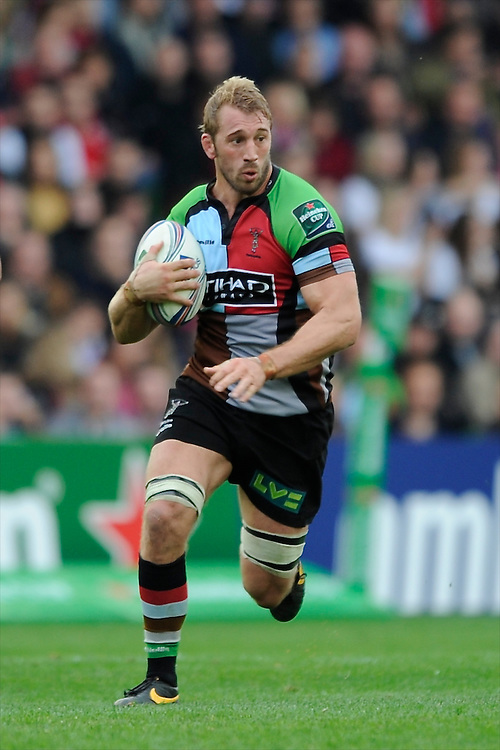 Chris Robshaw of Harlequins during the Heineken Cup Round 1 match between Harlequins and Scarlets at the Twickenham Stoop on Saturday 12th October 2013 (Photo by Rob Munro)