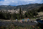 The breakaway featuring Guy Niv (ISR) Israel Start-Up Nation, Mattia Bais (ITA) Androni-Sidermec, Vincenzo Albanese and Samuele Rivi (ITA) Eolo-Kometa, Simone Velasco (ITA) Gazprom-RusVelo and Jan Bakelants (BEL) Intermarché-Wanty-Gobert during Stage 1 of Tirreno-Adriatico Eolo 2021, running 156km from Lido di Camaiore to Lido di Camaiore, Italy. 10th March 2021. <br /> Photo: LaPresse/Marco Alpozzi   Cyclefile<br /> <br /> All photos usage must carry mandatory copyright credit (© Cyclefile   LaPresse/Marco Alpozzi)