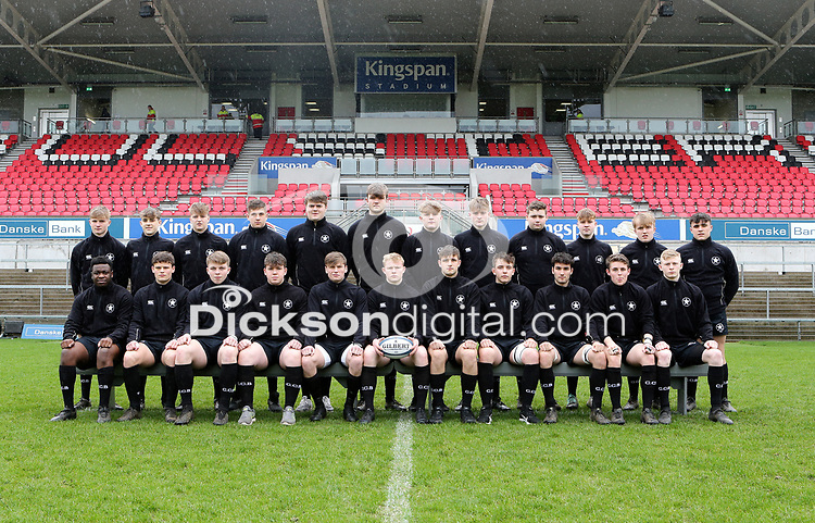 Tuesday 6th March 2019 | Ulster Schools Cup - Semi Final 1<br /> <br /> Campbell charge during the Ulster Schools cup semi-final between Campbell College Belfast and the Royal School Armagh at Kingspan Stadium, Ravenhill Park, Belfast, Northern Ireland. Photo by John Dickson / DICKSONDIGITAL