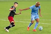 WASHINGTON, DC - SEPTEMBER 06: Heber #9 of New York City FC controls the ball during a game between New York City FC and D.C. United at Audi Field on September 06, 2020 in Washington, DC.