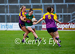 Lorraine Scanlon of Kerry been tackled by Juilet Rochford of Wexford in the Lidl LGFA National football league game in Fitzgerald Stadium Killarney on Sunday.