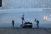 #20: Christopher Bell, Joe Gibbs Racing, Toyota Supra Rheem-Watts celebrates his win