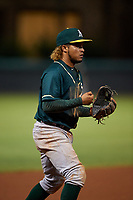 AZL Athletics Green third baseman Wilson Alvarez (3) during an Arizona League game against the AZL Dodgers Lasorda at Camelback Ranch on June 19, 2019 in Glendale, Arizona. AZL Dodgers Lasorda defeated AZL Athletics Green 9-5. (Zachary Lucy/Four Seam Images)