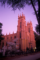 church, Columbia, South Carolina, SC, Trinity Cathedral (Episcopal) at sunset in Columbia.