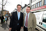 David Cameron, the Conservative Party leader with Simon Hart, Prospective Conservative Parliamentary Candidate for Carmarthen West and Pembrokeshire South and Chief Executive of the Countryside Alliance.. visits Carmarthen today to meet local businesses during his visit to South Wales today..