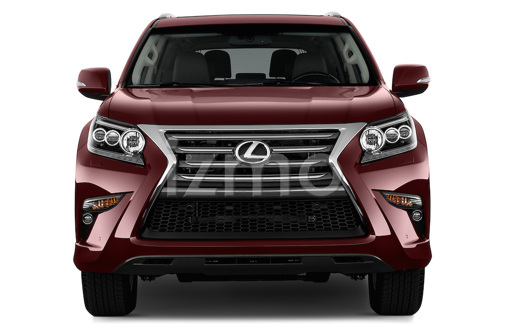 Car photography straight front view of a 2018 Lexus GX 460 5 Door SUV Front View