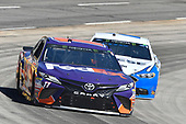 Denny Hamlin, Joe Gibbs Racing, Toyota Camry FedEx Ground, Brad Keselowski, Team Penske, Ford Fusion Reese/DrawTite