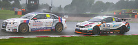 23rd August 2020; Oulton Park Circuit, Little Budworth, Cheshire, England; Kwik Fit British Touring Car Championship, Oulton Park, Race Day;  James Gornall GKR TradePriceCars driving an Audi S3  leads  Jack Goff RCIB Insurance with Fox Transport driving a Volkswagen CC  in race 1