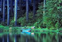 Boat on McKenzie River. Oregon.