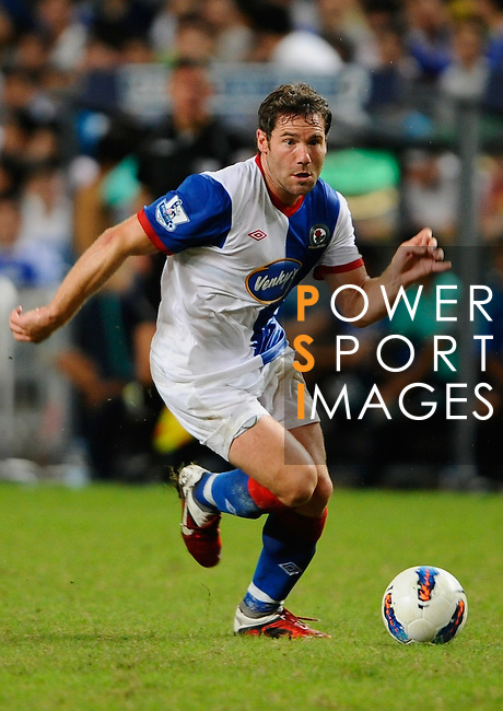 SO KON PO, HONG KONG - JULY 30: David Dunn of Blackburn Rovers in action against Kitchee during the Asia Trophy pre-season friendly match at the Hong Kong Stadium on July 30, 2011 in So Kon Po, Hong Kong.  Photo by Victor Fraile / The Power of Sport Images