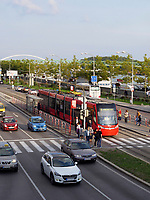 Straße Razusovo nabrezi, Linkes Donauufer, Bratislava, Bratislavsky kraj, Slowakei, Europa<br /> azusovo nabrezi St., left bank, Danube river, Bratislava, Bratislavsky kraj, Slovakia, Europe