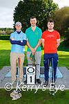 Colm O'Dowd, John  McGrath and Kieran Fitzpatrick Killarney at the Deerpark P+P Scrathplay Championship on Sunday