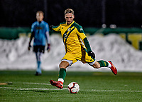 13 November 2019: University of Vermont Catamount Defender Adrian Gahabka, a Senior from Passau, Germany, in action against the University of Hartford Hawks at Virtue Field in Burlington, Vermont. The Catamounts fell to the visiting Hawks 3-2 in sudden death overtime of the Division 1 Men's Soccer America East matchup. Mandatory Credit: Ed Wolfstein Photo *** RAW (NEF) Image File Available ***