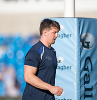 4th June 2021; AJ Bell Stadium, Salford, Lancashire, England; English Premiership Rugby, Sale Sharks versus Harlequins;  Ben Curry of Sale Sharks warms up before the game