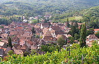 view of village from  kastelberg gc andlau alsace france