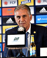 BOGOTÁ-COLOMBIA, 11-03-2019: Carlos Querioz, Director Técnico de La Selección Colombia de fútbol, durante rueda de prensa en la Sede Deportiva de la Federación Colombiana de Fútbol en Bogotá, 23 jugadores para la gira por Japón y Corea en la fecha FIFA. / Carlos Querioz, Technical Director of The Colombian Soccer Team, during a press conference at the Sports Venue of the Colombian Football Federation in Bogota, 23 players for the tour of Japan and Korea on the FIFA date. / Photo: VizzorImage / Luis Ramírez / Staff.