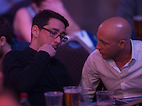 30.12.2014.  London, England.  William Hill PDC World Darts Championship.  BBC Darts presenter Colin Murray in the crowd at the 2015 William Hill World Darts Championship.