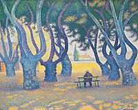 Places des Lices - Saint-Tropez, 1893 <br /> Paul Signac (1863–1935)<br /> Carnegie Museum of Art - Pittsburgh PA.